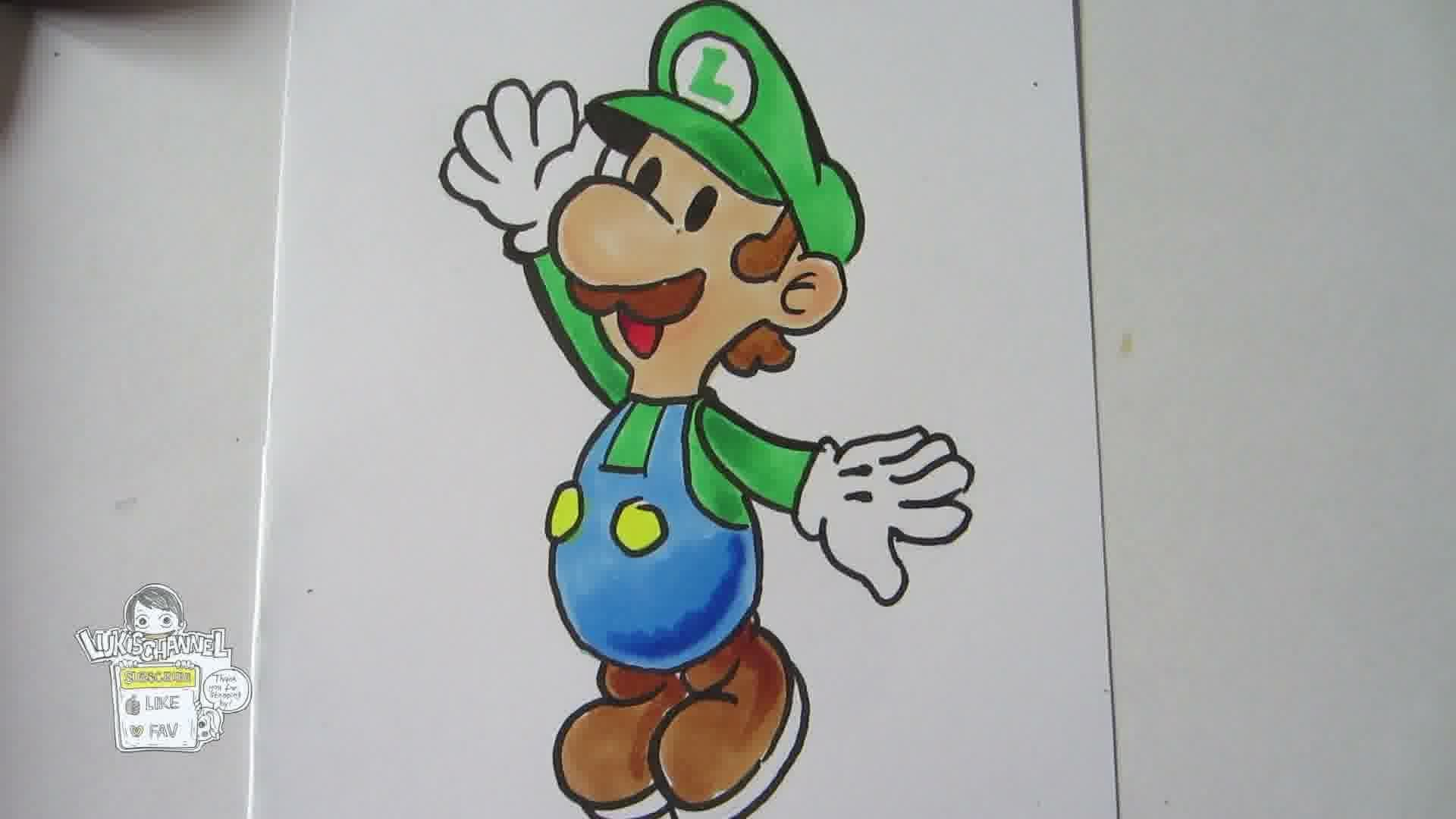 1920x1080 Mario And Luigi Drawing How To Draw Paper Mario Luigi [Real Time