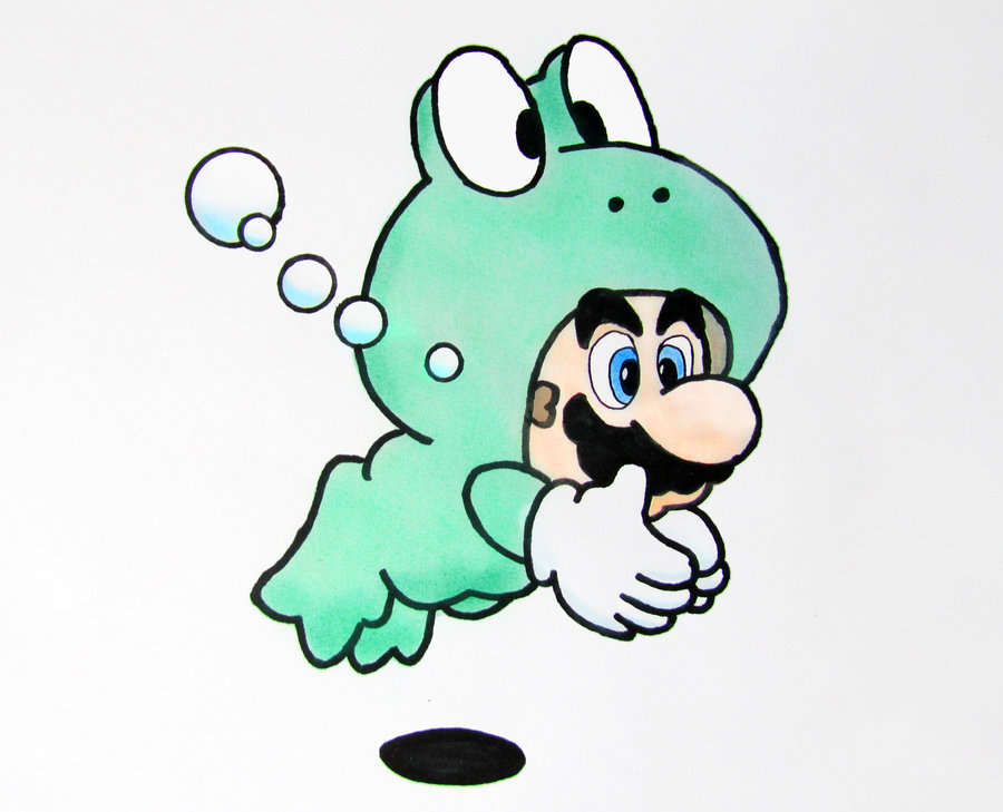 900x729 Mario Frog Suit Drawing By Xceptionalz