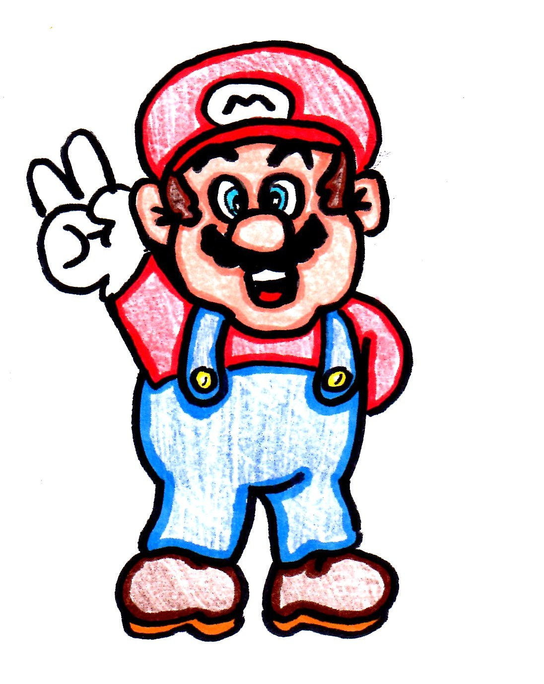 1096x1376 How To Draw Peace Mario!