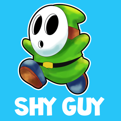 400x400 How To Draw Shy Guy From Nintendo's Super Mario In Instructional