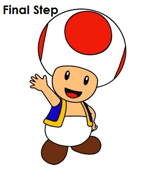 300x388 How To Draw Toad (Nintendo) How To Draw Toad