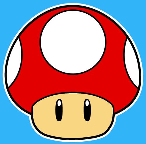 500x494 How To Draw The Mushroom From Nintendo's Super Mario Bros