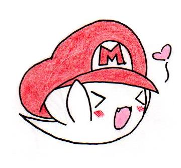 360x334 Boo With Mario's Hat By Lilren