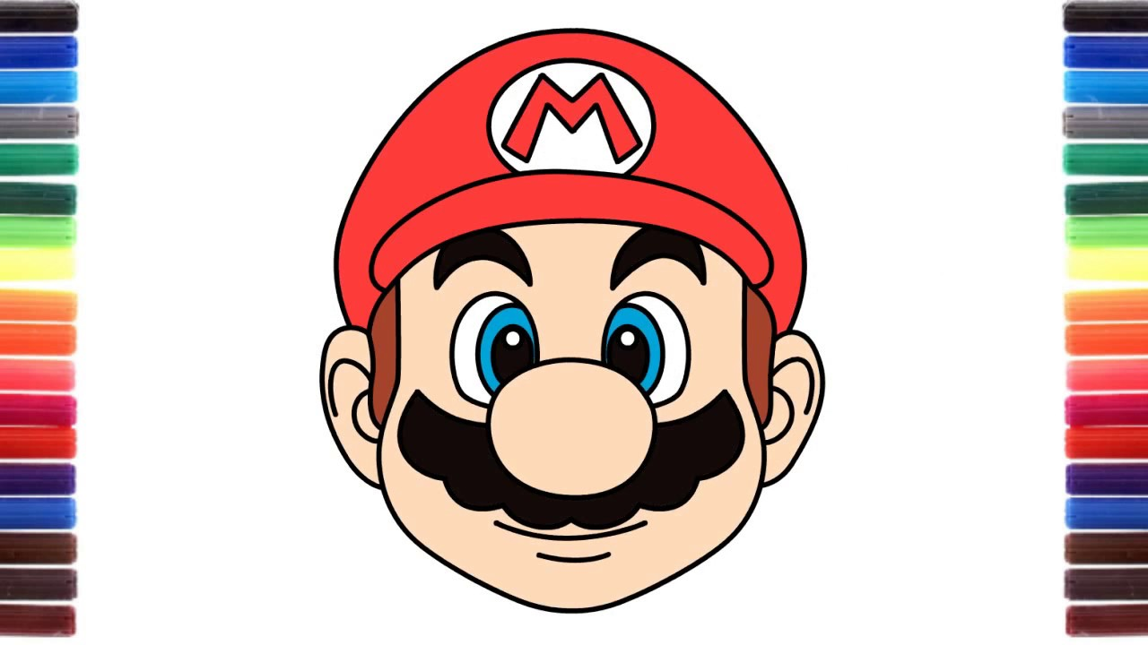 1280x720 How To Draw Cute Emoji Super Mario Run Face