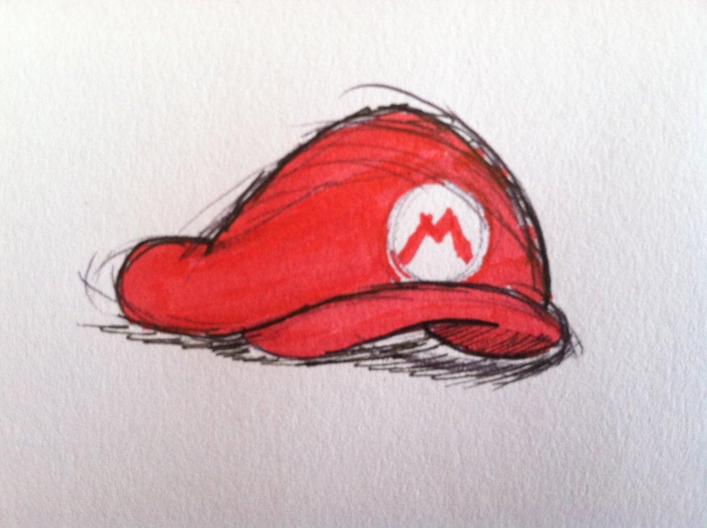 1024x765 Inktober Mario's Hat By Drewtiptonart