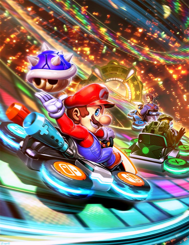 Ausmalbilder Super Mario Kart 8 Deluxe