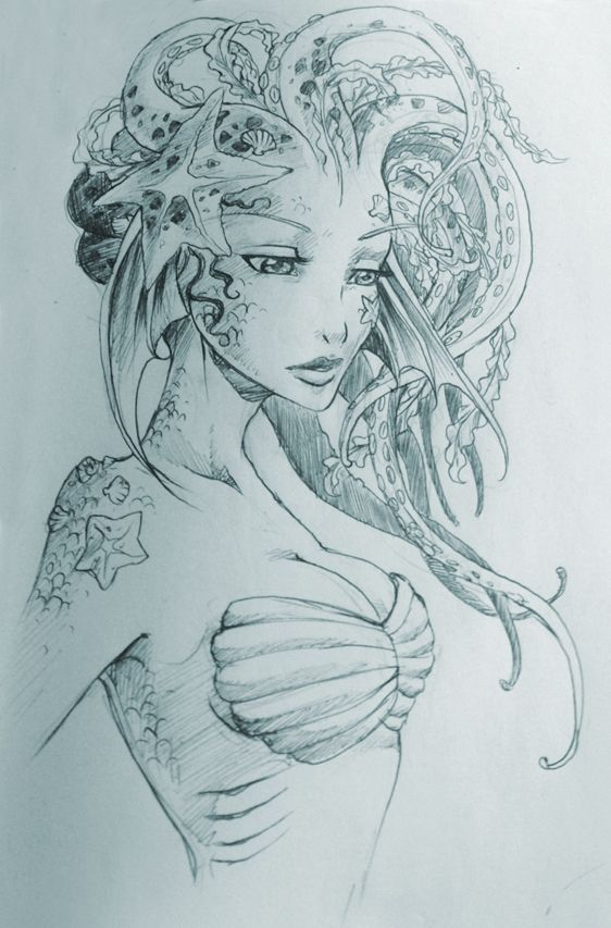 Marmaid Drawing at GetDrawings.com | Free for personal use Marmaid ...