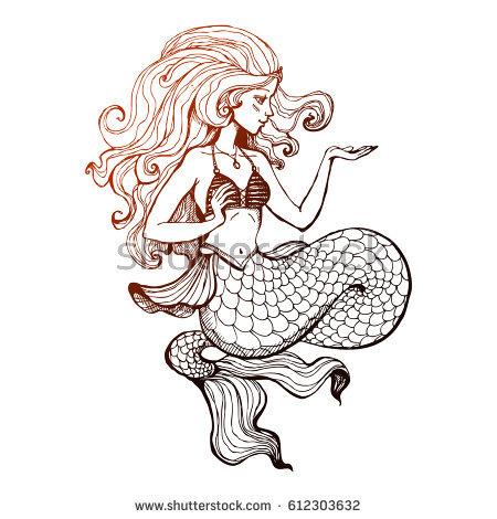 450x470 Mermaids Drawings
