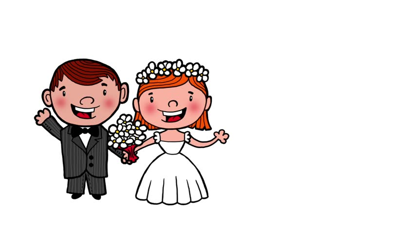 852x480 Cute Cartoon Couple, Video Animation, Hd 1080 Stock Footage Video
