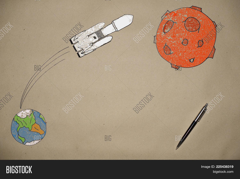 1500x1121 Drawing Launch Rocket Falcon Mars Image Amp Photo Bigstock