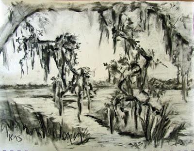 400x312 Paint Charleston Daily Marsh Plein Air Drawing