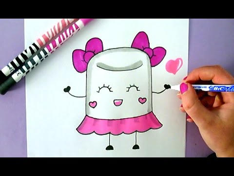 480x360 How To Draw A Cute Marshmallow