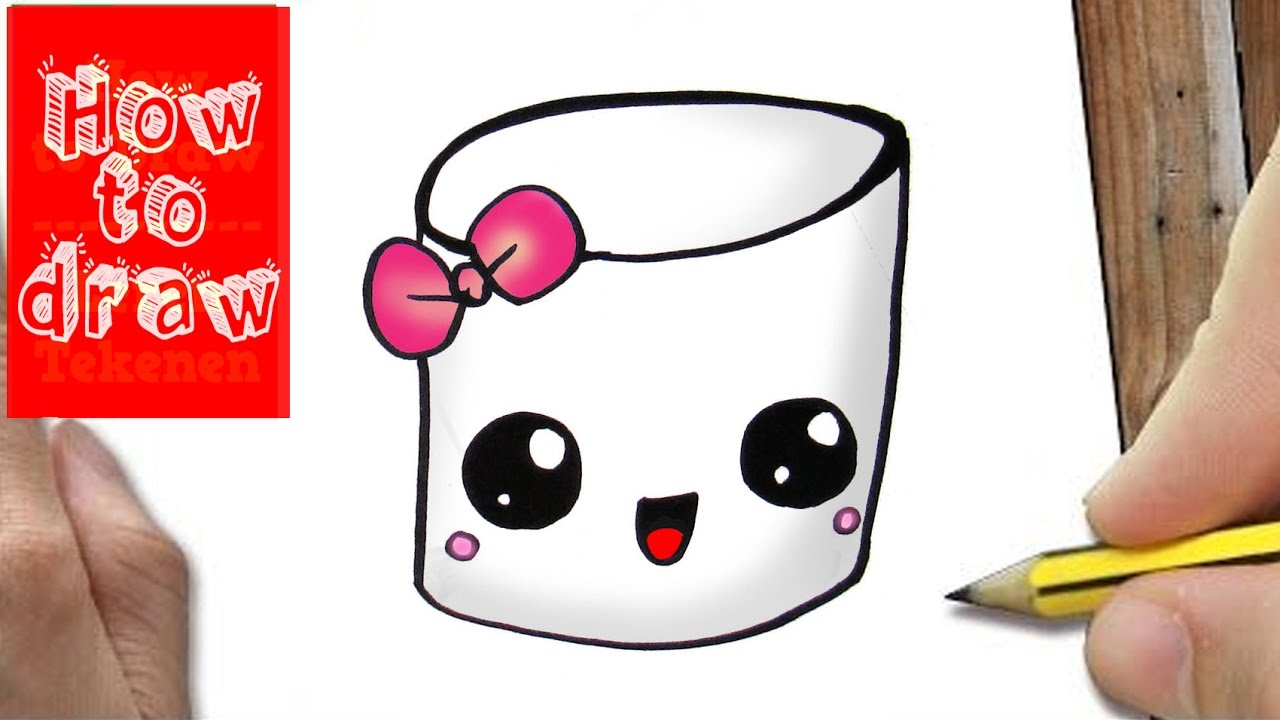 1280x720 How To Draw A Marshmallow Cute Amp Easy