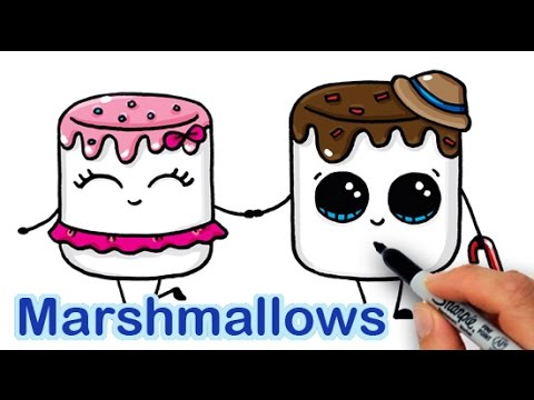 480x360 How To Draw Cartoon Marshmallow Cute And Easy