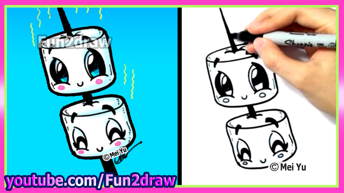 1136x638 Marshmallows! Draw Marshmallow, Drawings And Doodles