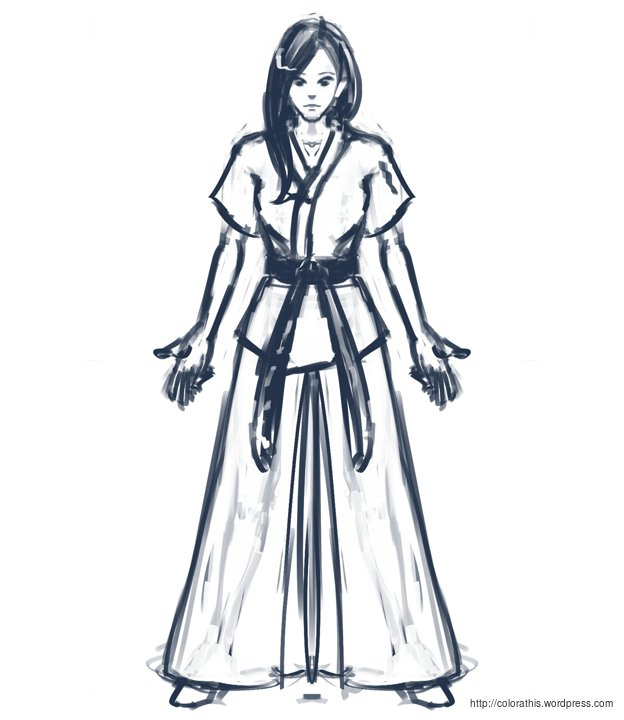 624x720 Martial Art Girl Sketch Colorathis