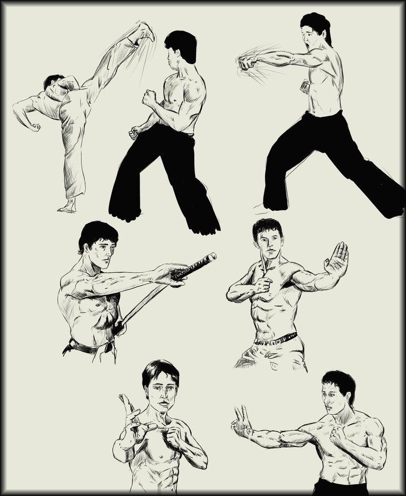 809x988 Martial Arts Sketches By Amenoosa