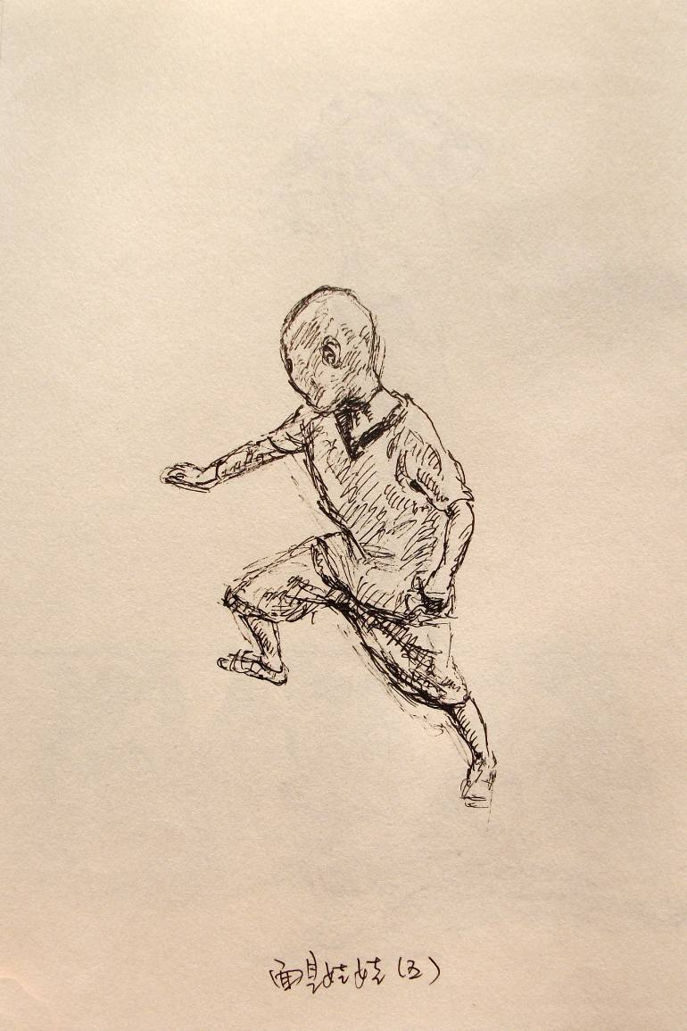 770x1155 Saatchi Art Young Boy Plays With The Martial Arts