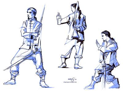 400x296 The Art Of Elsa Garagarza Drawing Workshop Martial Arts Themed