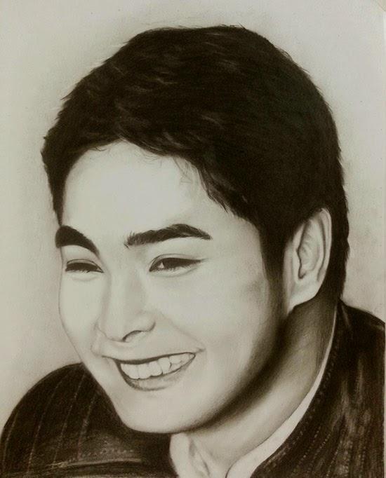 550x682 Coco Martin Portrait Drawing