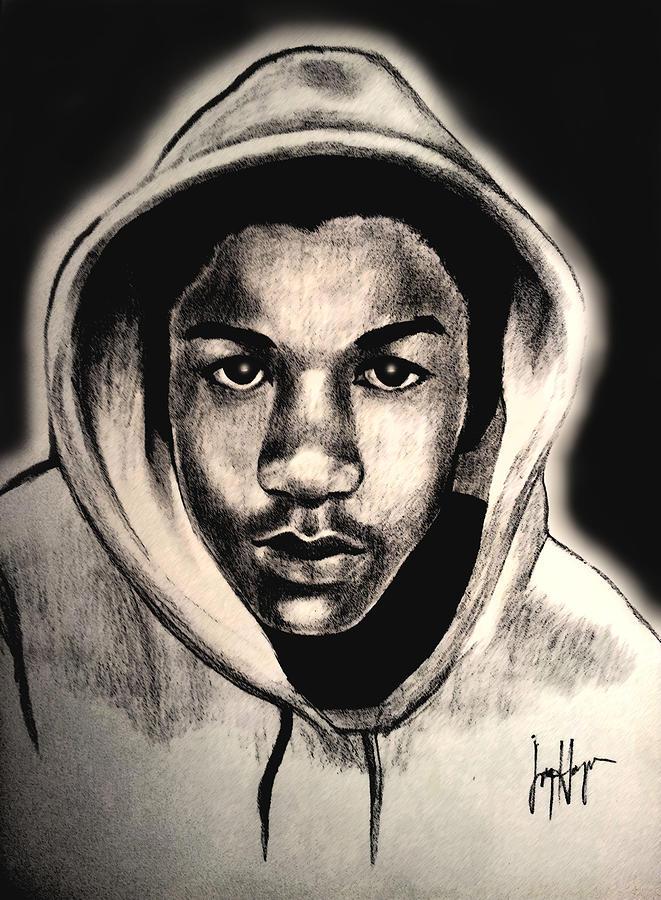 661x900 Trayvon Drawing By Joyce Hayes