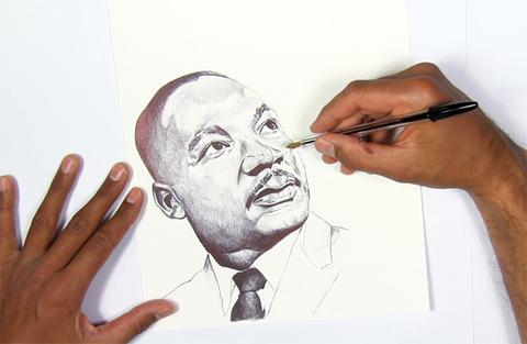 480x313 Digital Download Print Martin Luther King Jr. Alisa Burke
