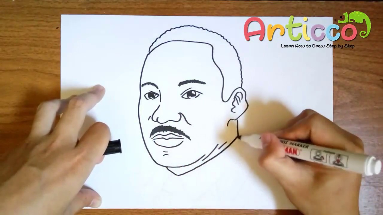 Martin Luther King Jr Drawing at GetDrawings.com | Free for personal ...