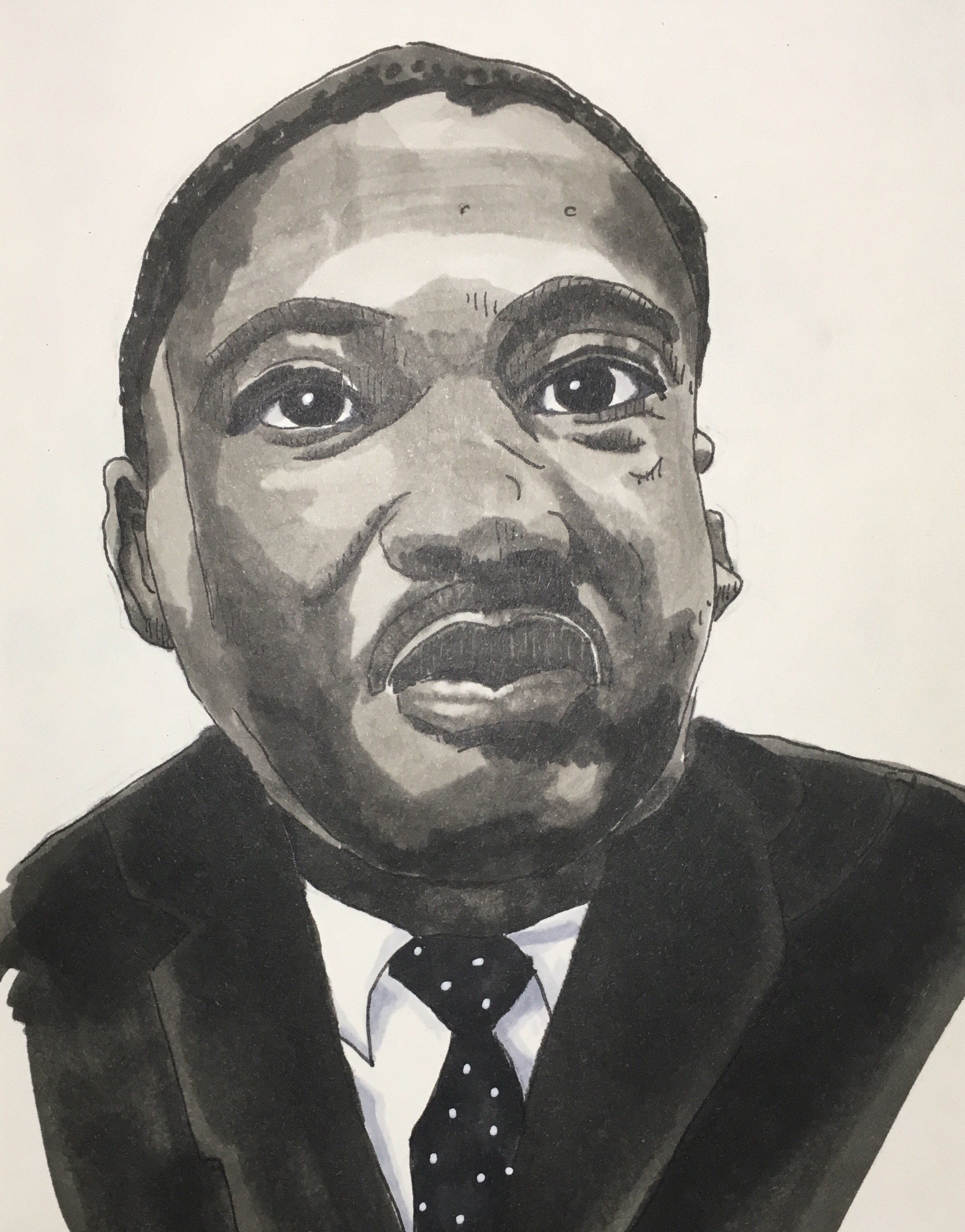 Martin Luther King Jr Drawing at GetDrawings | Free download