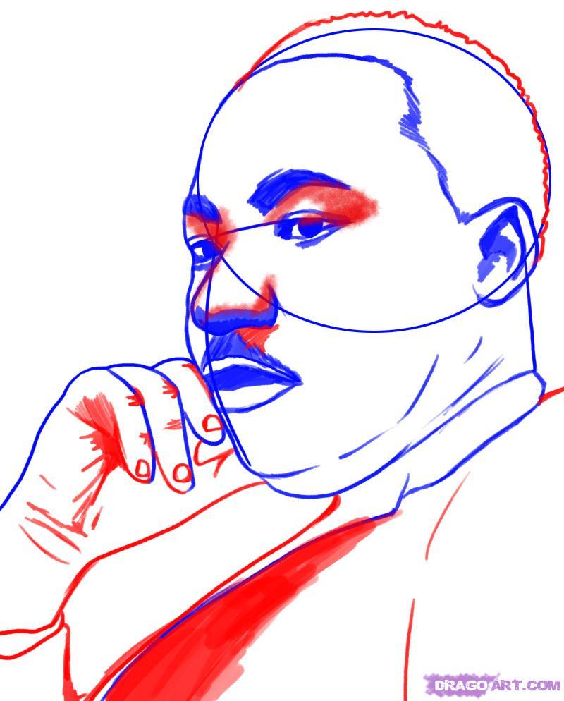 Famoso Martin Luther King Jr Para Colorear Imprimible Modelo ...