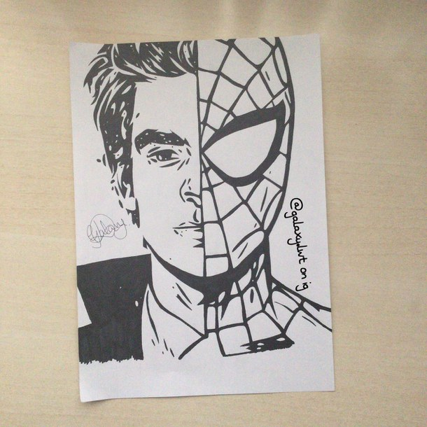 610x610 A Drawing Of Spider Man