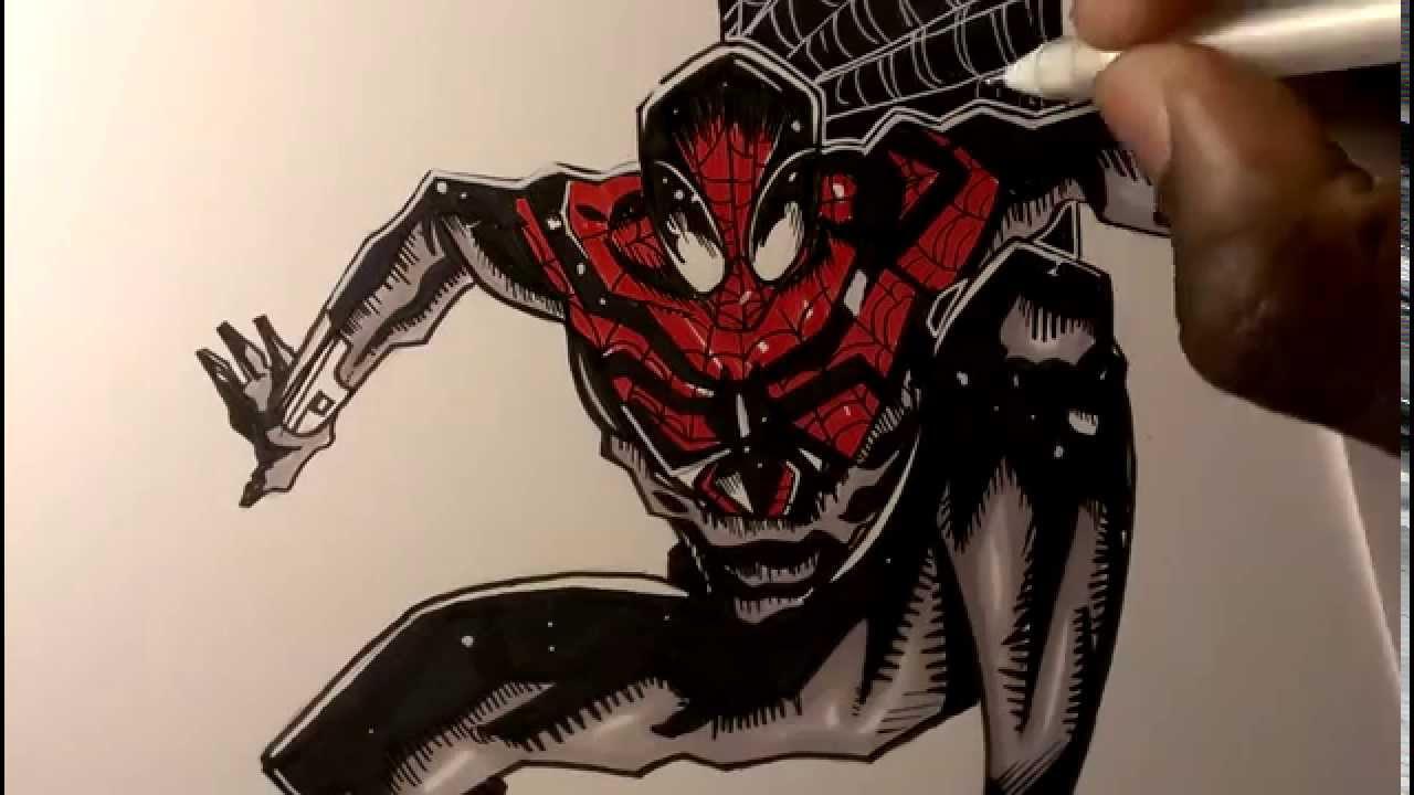 1280x720 Drawing The Superior Spiderman, Marvel Comics