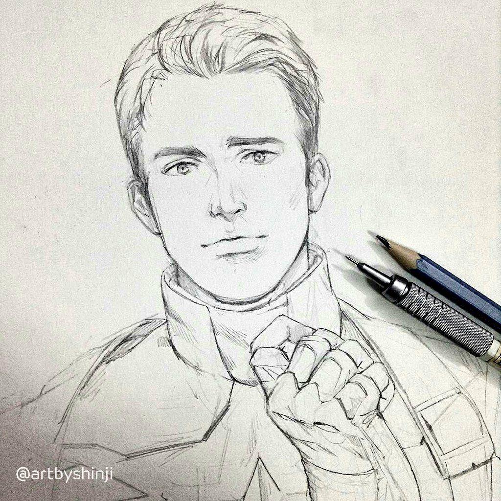 1024x1024 Hbd Chris Evans Drawing Chris Evans, Capt