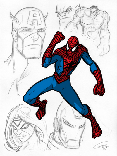 400x530 Marvel Character Sketches 2 By Grantgoboom