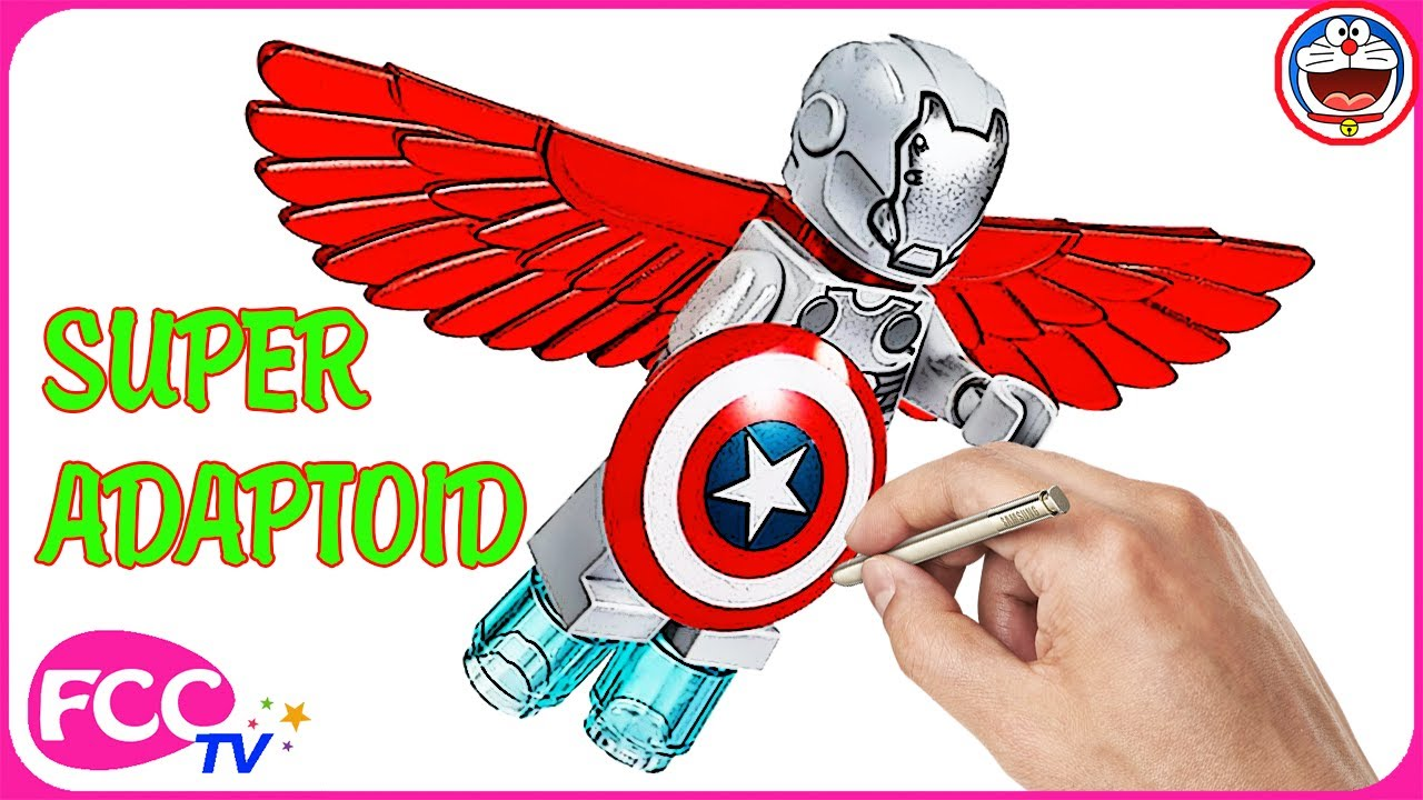 1280x720 Marvel Superheroes Lego Drawing On Coloring Page