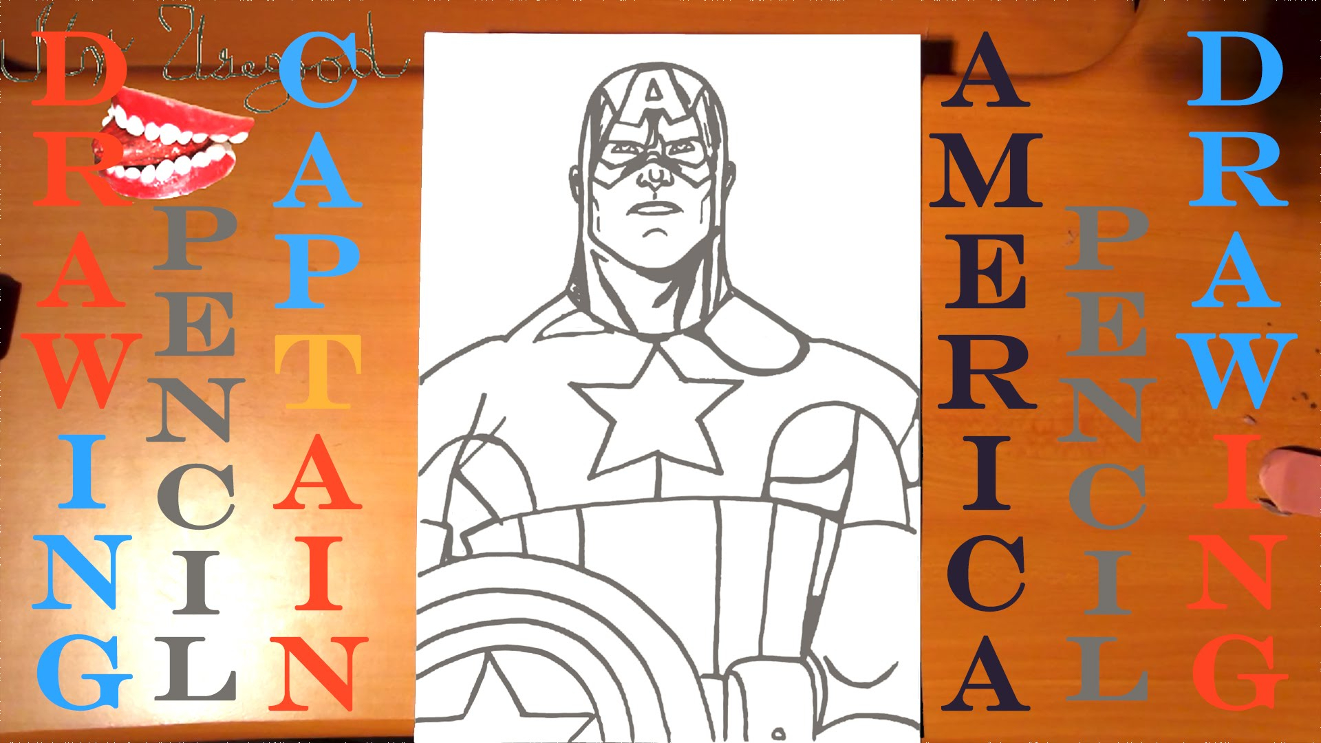 1920x1080 Superheroes Easy Pencil Drawing How To Draw Captain America Easy