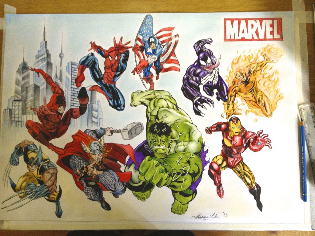 Image result for hero illustration marvel