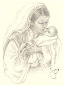 225x300 Mary And Baby Jesus (Joni Atkins)