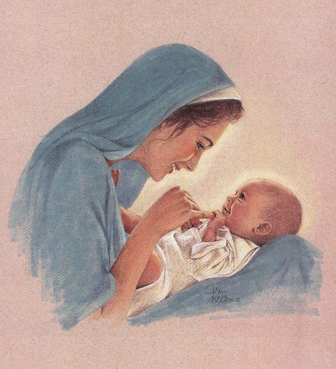 657x720 Mary And Baby Jesus Jean Keaton Art