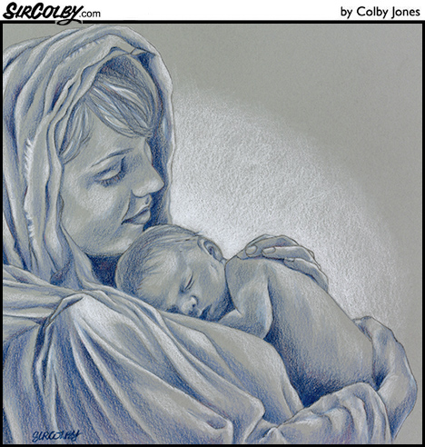 468x492 Mary And Baby Jesus