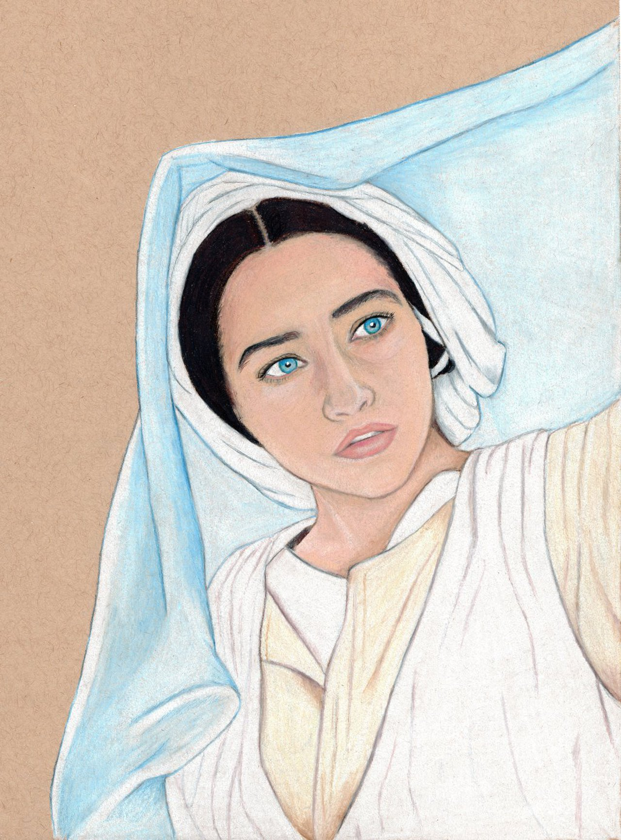 1280x1730 Mary (Colored Pencil Drawing) By Julesrizz