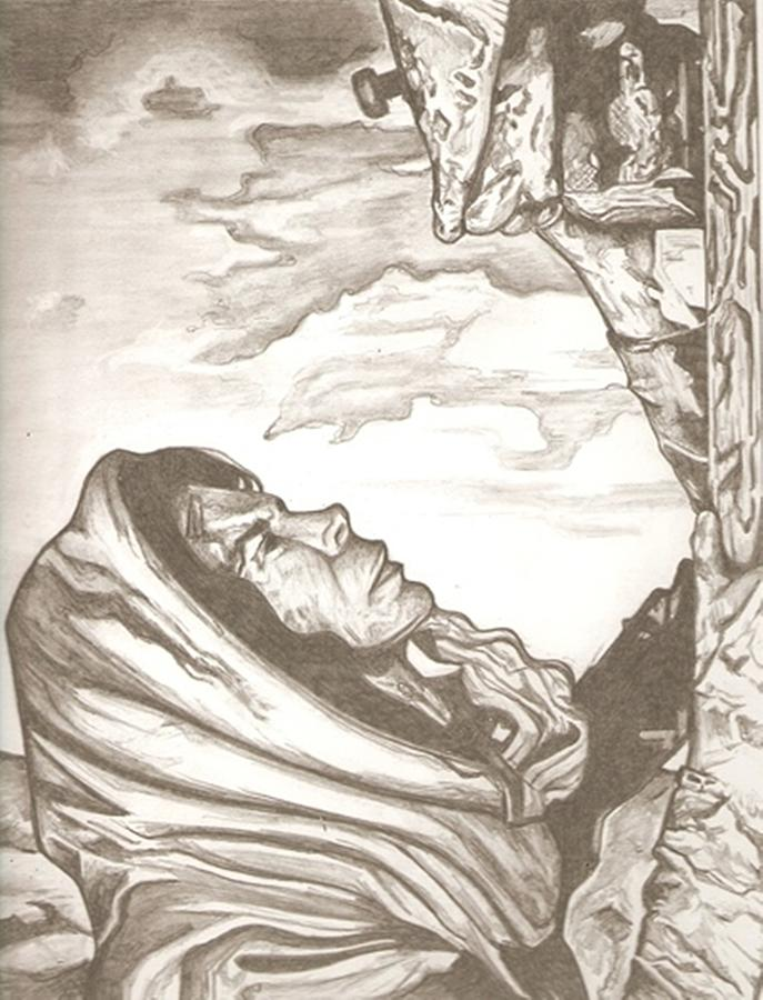 687x900 Mother Mary Drawing Drawing By Robert Crandall