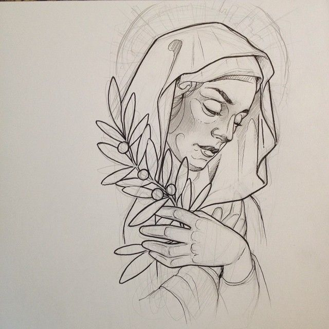 640x640 Virgin Mary For Today. Tattoo Sketches And Flash