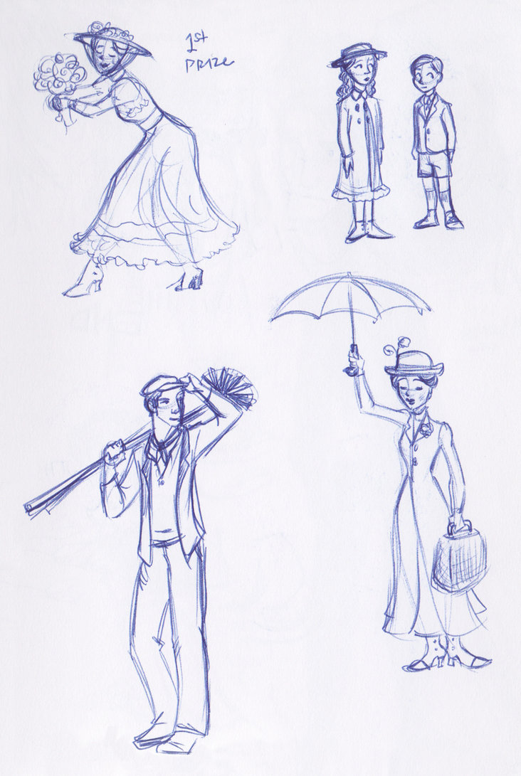732x1091 Mary Poppins Sketchbook Montage By Kuabci On Drawing