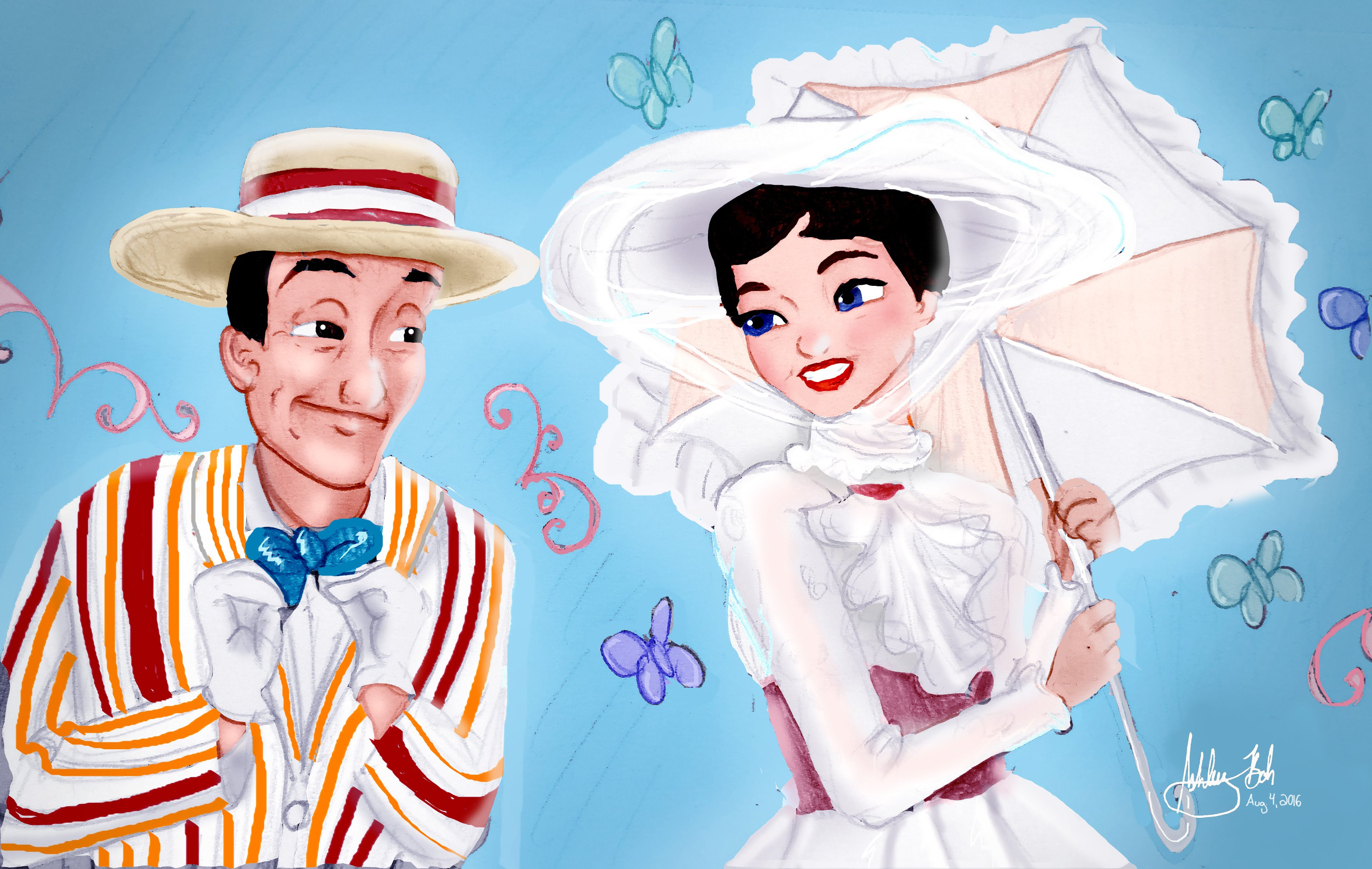 3723x2359 Mary Poppins And Bert