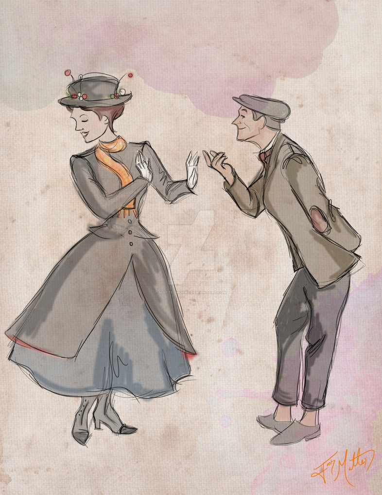 786x1017 Mary Poppins And Bert By Mattesworks