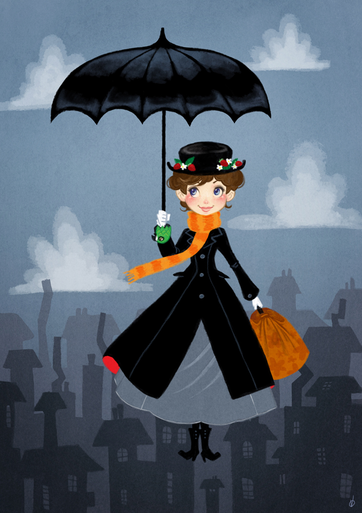 707x1000 Mary Poppins Remake By Olayavalle