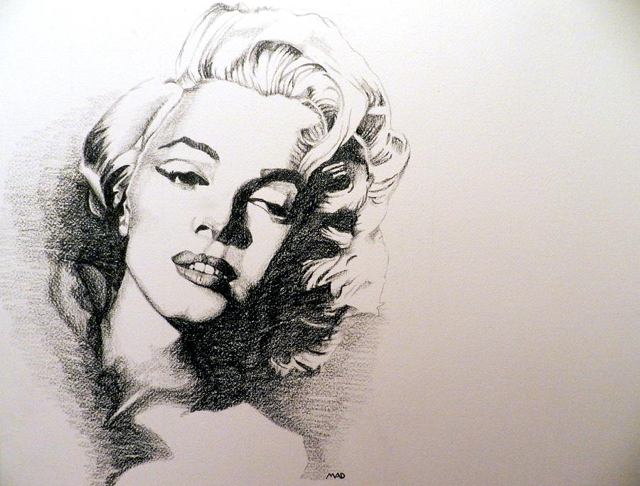 900x684 Marilyn Monroe Drawing By Michael Damico