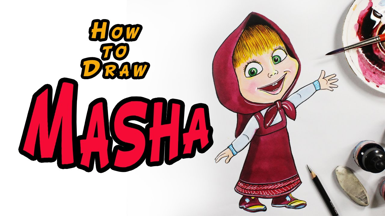 1280x720 How To Draw Masha From Masha And The Bear Drawing For Kids