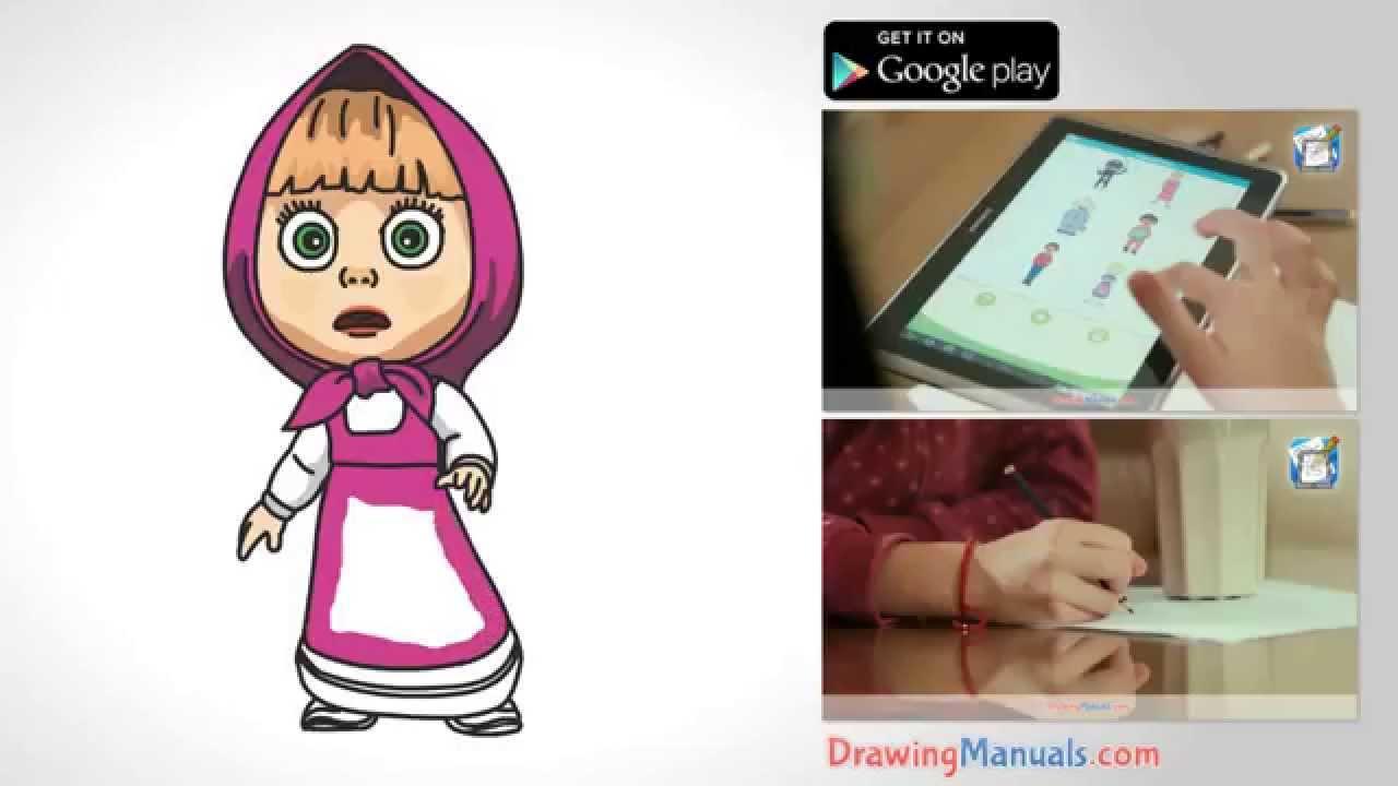 1280x720 How To Draw Masha From Masha And The Bear
