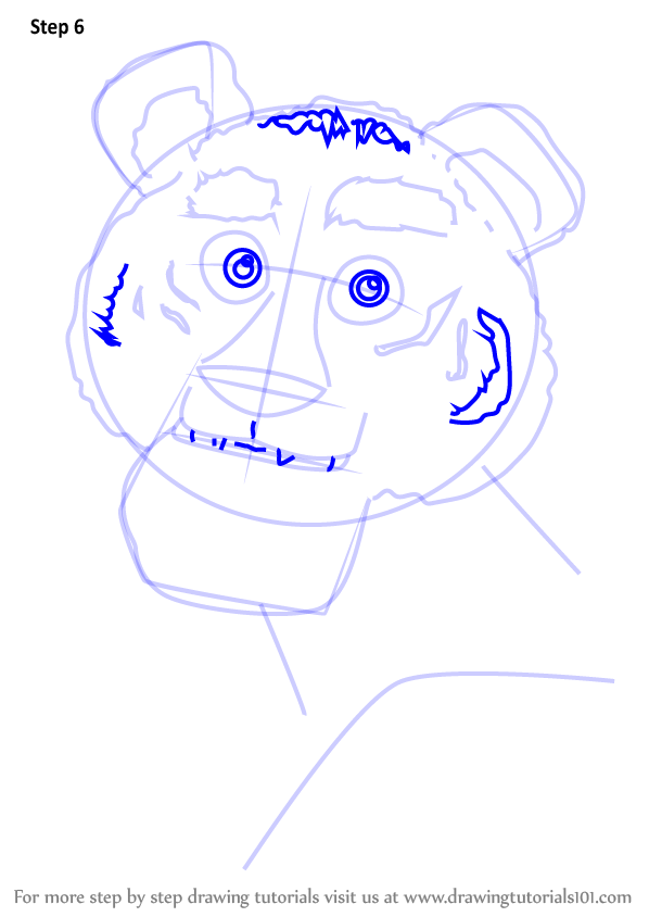 598x844 Learn How To Draw Tiger From Masha And Bear (Masha And